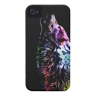 Lobo del fractal del arco iris iPhone 4 protector