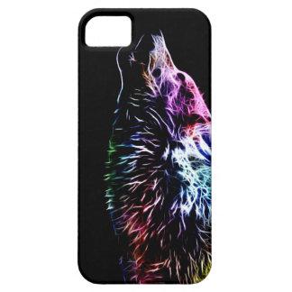 Lobo del fractal del arco iris iPhone 5 Case-Mate carcasa