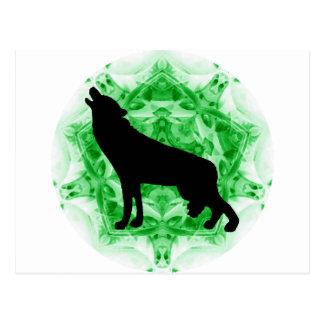 Lobo del grito del caleidoscopio tarjetas postales