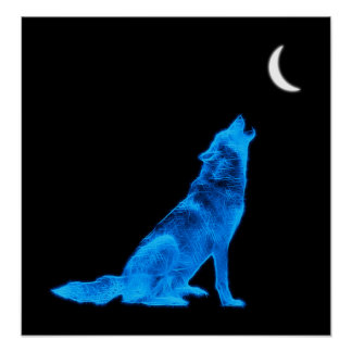 Lobo del grito impresiones
