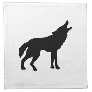 Lobo del grito servilletas de papel
