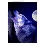 Lobo del grito tarjetas