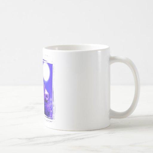 Lobo del grito tazas de café