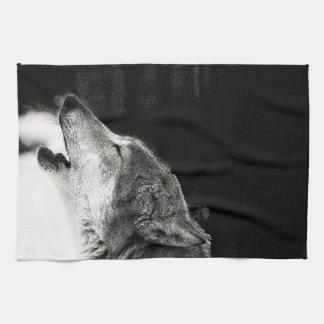 Lobo del grito toallas de mano
