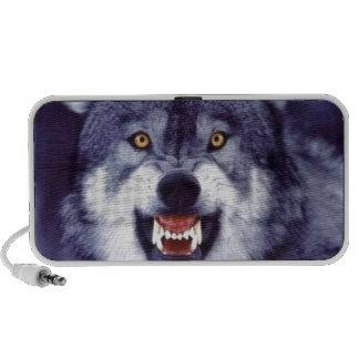 Lobo del gruñido laptop altavoces