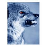 Lobo del gruñido (lupus de Canis), perfil (Digital Postal