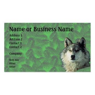 Lobo del invierno con la tarjeta Spruce 2 del nego Plantillas De Tarjeta De Negocio