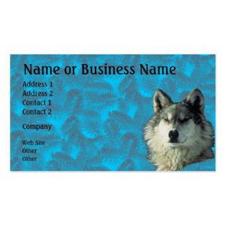 Lobo del invierno con la tarjeta Spruce del negoci Tarjeta De Negocio