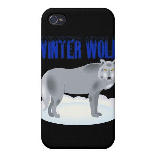 Lobo del invierno iPhone 4/4S carcasas