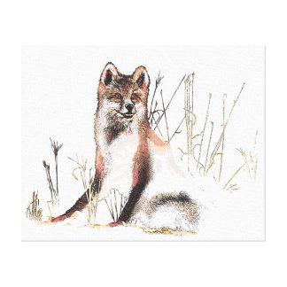 Lobo del invierno impresion en lona