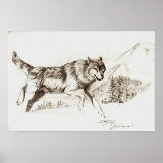 Lobo del invierno poster