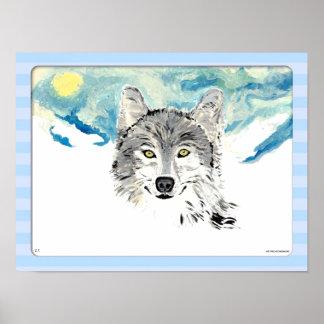Lobo del invierno impresiones