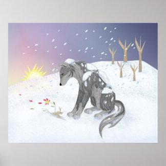 Lobo del invierno posters