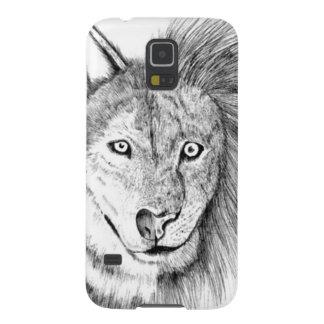 Lobo del león carcasa de galaxy s5