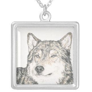 Lobo del macho alfa colgante cuadrado