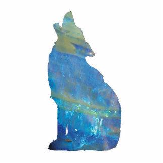 Lobo del ópalo PhotoSculpture Fotoescultura Vertical