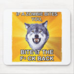 Lobo del valor contra zombis alfombrilla de ratones