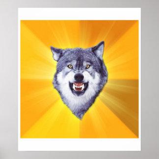 Lobo del valor póster