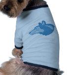 Lobo en azul camisetas mascota