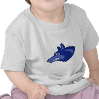 Lobo en azul marino camiseta