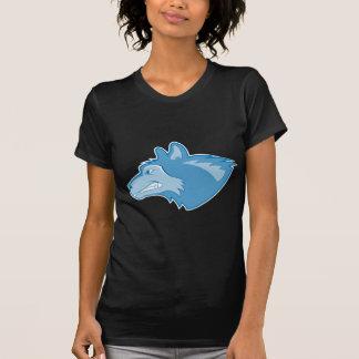 Lobo en azul camisetas