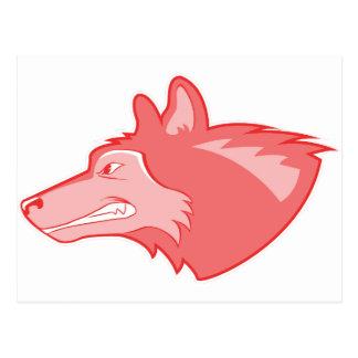 Lobo en bígaro tarjetas postales