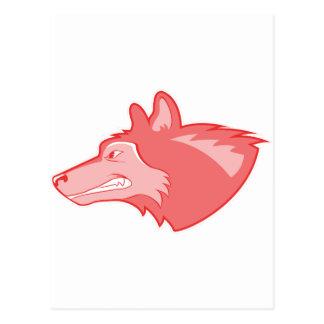 Lobo en bígaro postal