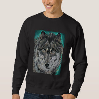 Lobo en camiseta del hielo del trullo sudaderas encapuchadas