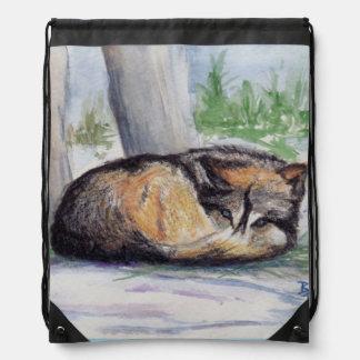 Lobo en descanso mochila