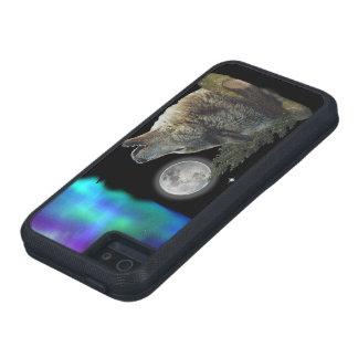Lobo en el arte de la noche iPhone 5 fundas