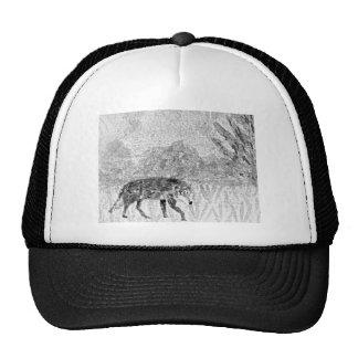 Lobo en el bosquejo del vagabundeo gorras
