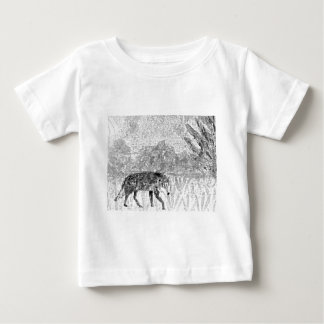 Lobo en el bosquejo del vagabundeo poleras