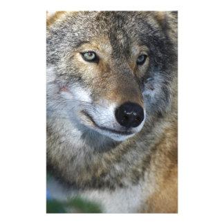 lobo en el corazón papelería de diseño