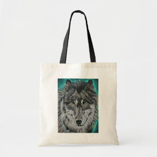 Lobo en hielo del trullo bolsa tela barata