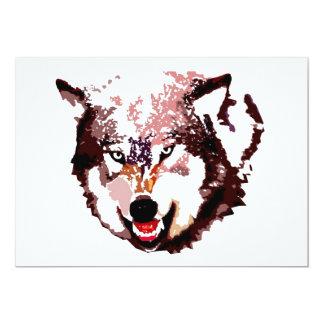 Lobo en la invitación de la nieve