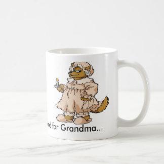 Lobo en la ropa de la abuela tazas de café