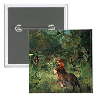 Lobo en la trayectoria con rojo pin