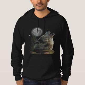 Lobo en las camisetas de la noche pulóver