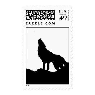 Lobo en los sellos de la colina