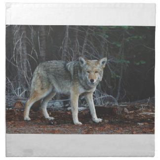 Lobo en maderas servilleta