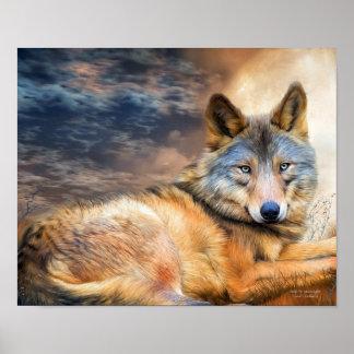 Lobo en poster/la impresión de la bella arte del c póster