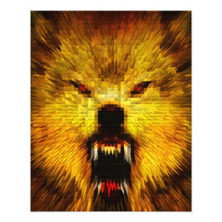 Lobo enojado fotografia