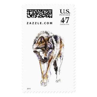 Lobo europeo sellos