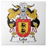 Lobo Family Crest Ceramic Tiles