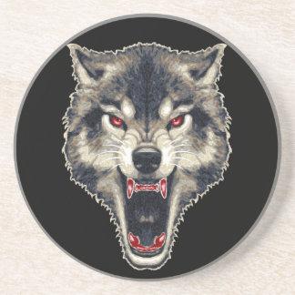 Lobo feroz posavasos diseño
