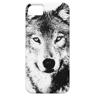 Lobo Funda Para iPhone 5 Barely There