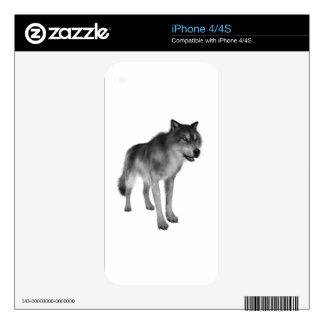 Lobo gris calcomanías para iPhone 4S