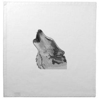 Lobo gris del grito servilletas de papel