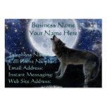 Lobo gris del grito y tarjetas del perfil y de vis tarjetas de visita grandes