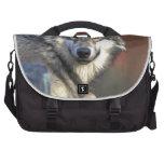 lobo gris del timberwolf bolsas de portátil